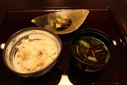 別亭やえ野:鮎大根ご飯2