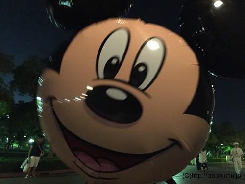 ミッキーマウスの風船