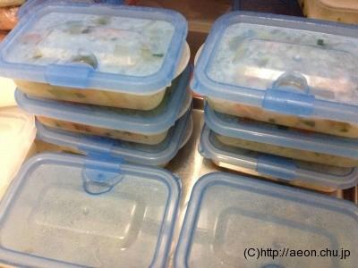 離乳食の冷凍庫での保存