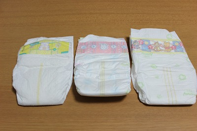GOO.N、パンパース、ムーニー、メリーズの新生児用オムツ比較