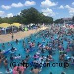 しらこばと水上公園:芋洗い状態の流れるプール