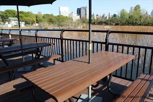 上野動物園 不忍池前のベンチ